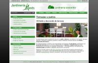 captura de pantalla de Jardineria Monés - Jardines Barcelona
